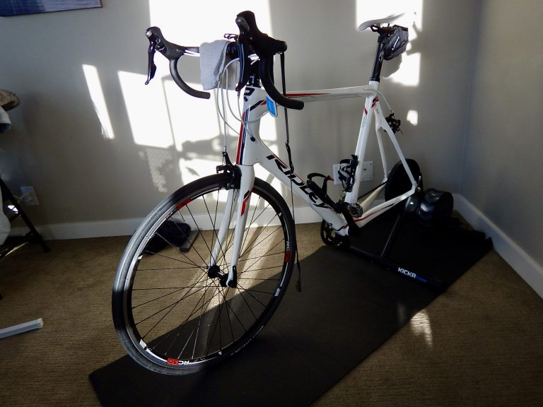 indoor cycling setup