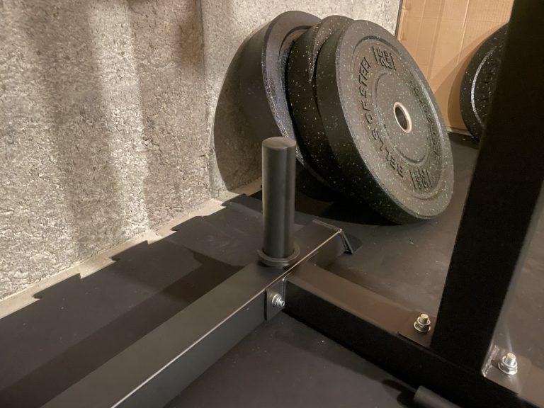 bells of steel residential power rack bumper plate mount
