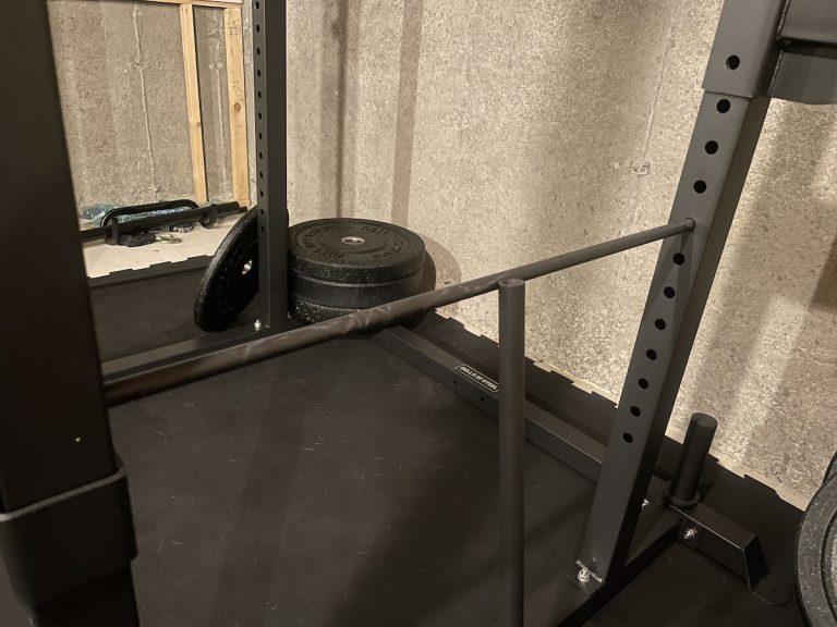 bells of steel residential power rack spotter arms