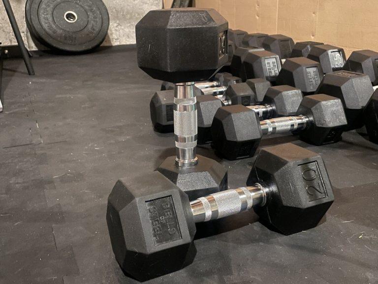 bells of steel rubber hex dumbbells